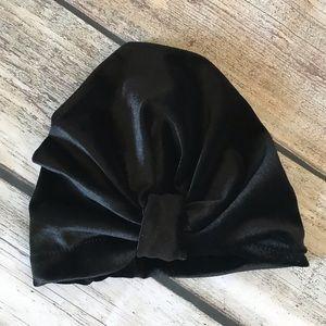 Other - Brand New Velvet Black Baby Toddler Turban Hat